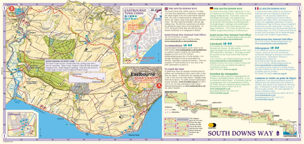 South Downs Way Map Panel 1