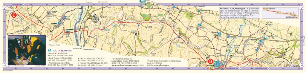 South Downs Way Map Panel 2