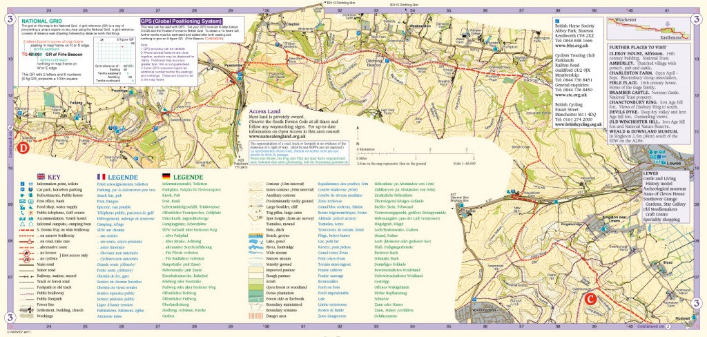 South Downs Way Map Panel 3