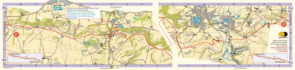 South Downs Way Map Panel 4