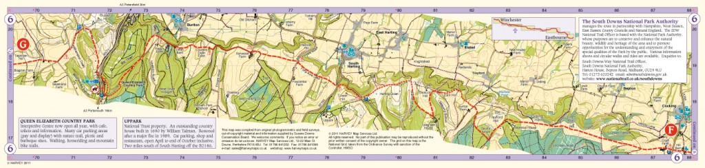 South Downs Way Map Panel 6