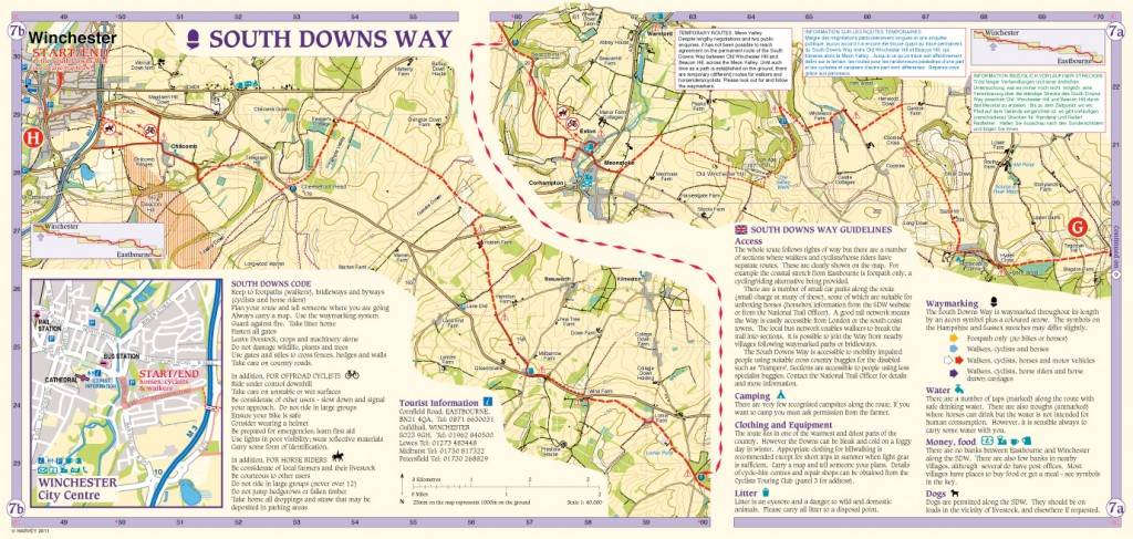 South Downs Way Map Panel 7